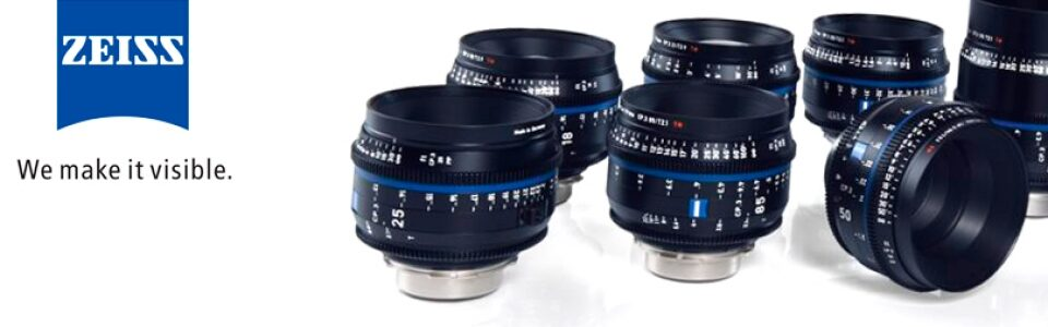Zeiss CP.3 Cine prime lenses available in Algarve (Portugal) to rent